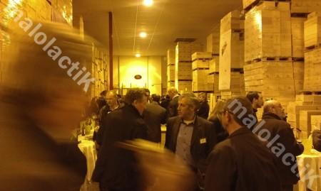 Soirée Primeurs Bordeaux Supérieur à l'entrepôt Millésima. (Crédit : Johan GESREL.)