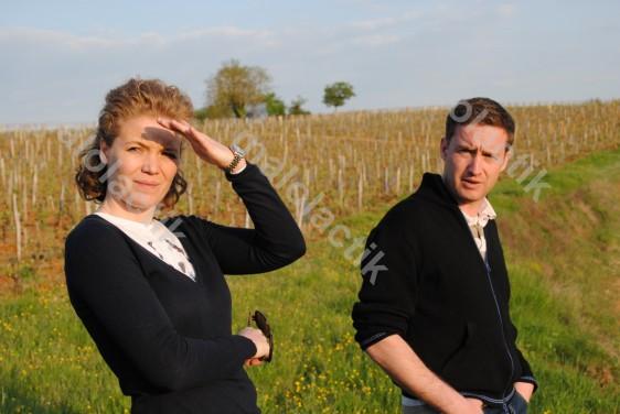 Stéphan et Matthias Belmon, rencontrés le 15 avril 2011 à Goujounac. Crédit photo : Johan Gesrel.
